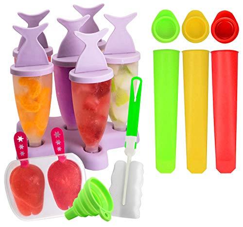 Moldes Helados, Gyvazla Reutilizable Popsicle Moldes, 8