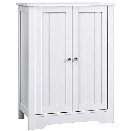 Great Features Of AOOU Bathroom Floor Cabinet, 32'' Wooden Freestanding Storage Cabinet with Double...
