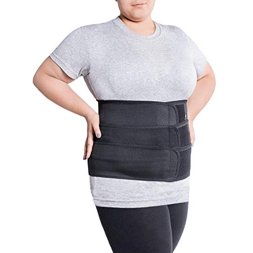 Cintura lombare di sostegno - Fascia Schiena Elastica Lombare - Cintura lombare terapeutica-Tutore Posteriore Lombare XX-Large Nero