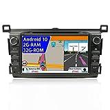 Android 9.0 Autoradio 2 Din Car Stereo Compatible para Toyota RAV4 Coche Navegacion GPS |8 pulgadas 2G+32G Octa Core |Soporta control del volante Mirror-Link DAB WIFI USB |LIBRE Cámara trasera Canbus