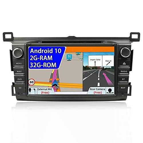 Autoradio doppio DIN per Toyota RAV4 2013 – 2015 Android 9.0 8 pollici 2G RAM + 32G ROM Car Audio GPS Navigation Head Unit Support WiFi 4G Bluetooth controllo del volante Google Free Camera & Canbus