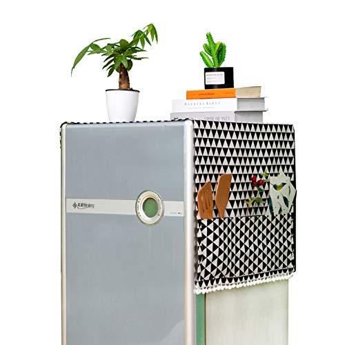 Cubierta Polvo Refrigerador 55x130cm Cubierta Polvo Lavadora Funda de Lavadora Guardapolvo Multiusos de Guardapolvo con Bolsa de Almacenamiento Adecuado para Refrigerador de Una Sola Puerta La