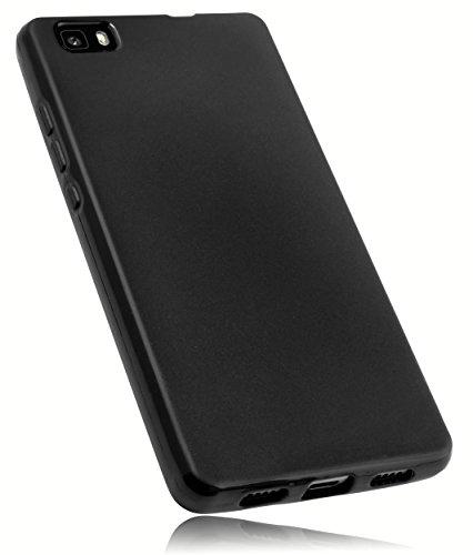 mumbi Hülle kompatibel mit Huawei P8 Lite 2015 Handy Hülle Handyhülle, schwarz