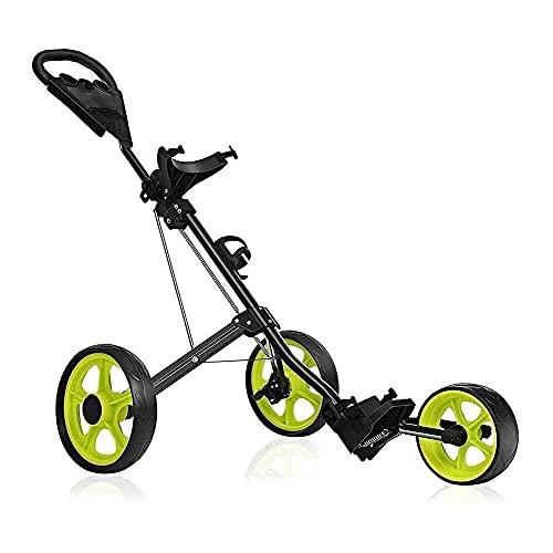 Carrito de golf Carritos de golf Carrito de golf Carrito de golf Carrito de golf para bolsa de golf Carritos de golf Plegables de 3 ruedas para hombres, mujeres Accesorios y accesorios para carritos d 🔥