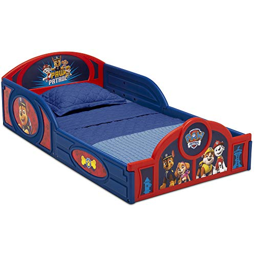 Nick Jr. PAW Patrol Plastic Sleep and Play Toddler Bed with Attached Guardrails by Delta Children