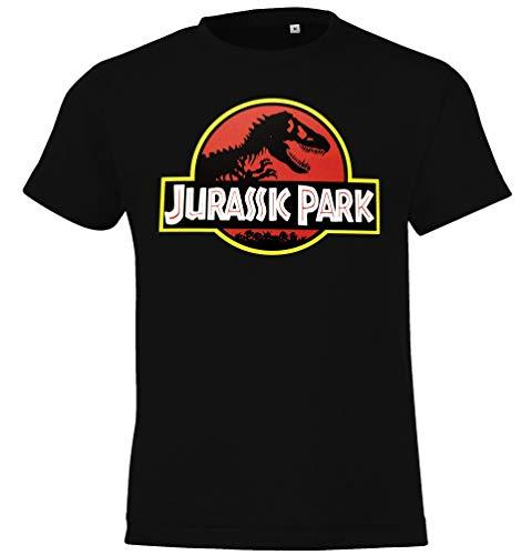 Youth Designs Jurassic T-Rex - Camiseta para niño y niña 104 – 152 (4 – 12 años). Colores: Negro 6 años