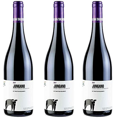 Aglianico IGP Paestum Jungano | San Salvatore | Vino Rosso Raffinato Campania | 3 Bottiglie 75Cl | Idea Regalo
