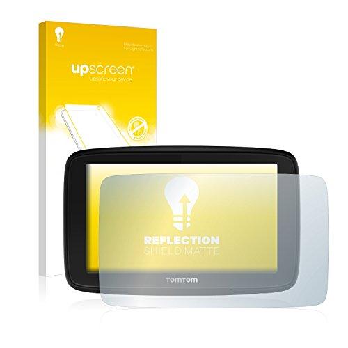 upscreen Entspiegelungs-Schutzfolie kompatibel mit Tomtom Via 53 – Anti-Reflex Displayschutz-Folie Matt