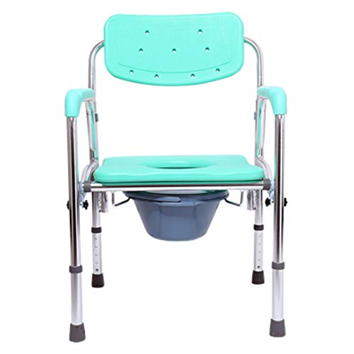DONGCY Fahrbar Toilettenstuhl Nachtstuhl Duschstuhl Klappstuhl Klappbett Kommode Stuhl Sitz äLtere Schwangere Kommode Mobilen Toilettenhocker Gesundheit Ausrüstung