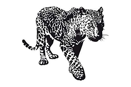universumsum Wandtattoo Leopard schwarz 70 x 60 cm uss209-70-070 Wandaufkleber Wandsticker Wandtattoo Kinderzimmer selbstklebend