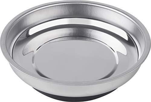 Werkzeyt Werkzeugschale Ø 108 mm - Extra starker Magnet - Aus robustem Edelstahl - Für eine sichere Aufbewahrung von Schrauben & Muttern / Magnetschale / Kleinteile-Aufbewahrung / B28912