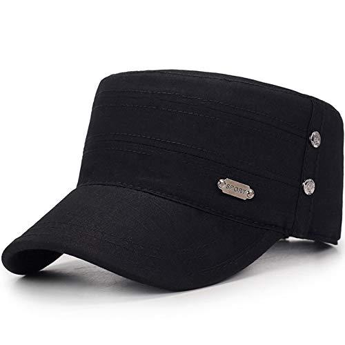 wtnhz Artículos de Moda Sombrero de Rayas para Hombres con Parte Superior Plana de Estilo Nacional, Moda estándar, Sombrero de Mediana Edad y ancianosRegalo de Vacaciones