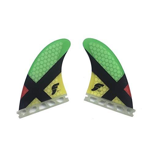 Shangfu GL Tabla de Surf Aleta, Aleta de la Tabla de Surf Propulsor Colorido Tabla de Surf Aletas Aletas Shortboard para Las Aletas de Surf de plástico (Color : Twin Fin)