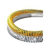 Bobina de espiral de PVC, fuelle, tubo de suministro de materiales, drenaje de plástico-19mm * 2.2mm * blanco * 1m