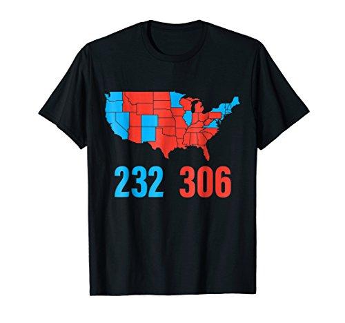 Trump Hillary Election Electoral Votes Map Score T-Shirt -  Trump P45 Apparel