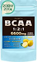 JAY&CO. (人工甘味料 合成着色料 保存料 無添加) BCAA 6600mg 1-2-1 国内製造 (レモン, 200g)