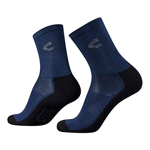 camel active Herren Funktionssocken 2 pack mountaneering grau, Size:39-42, Farben:dress blue