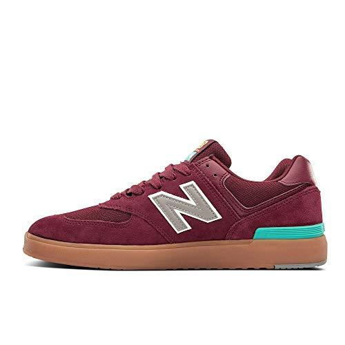 New Balance Herren Iconic 574 V1 Sneaker, Klassisches Burgunderrot, 39.5 EU