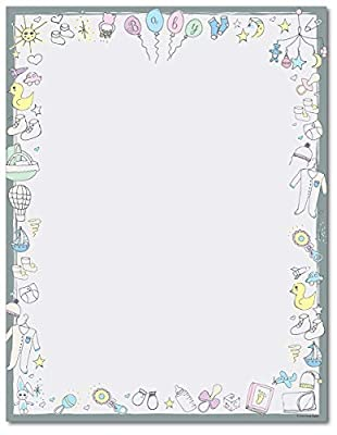 Baby Time Stationery Paper - 80 Sheets - Great for Baby Showers and Birth Announcements from Great Papers