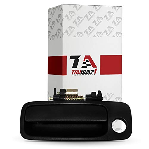 T1A Outside Front Left Driver's Side Exterior Door Handle Replacement for 1997-2001 Toyota Camry, Smooth Black, T1A 69220-AA010