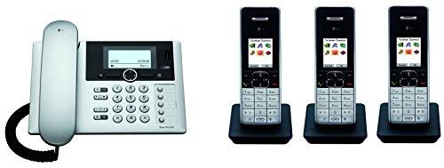 Telekom T-Home Sinus PA503i plus 3 , ISDN Telefon TRIO SET inkl. 3 Mobilteilen und Anrufbeantworter