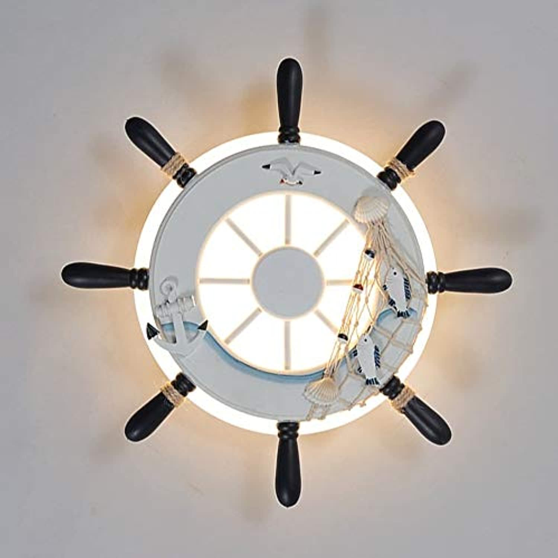 LED Harz Wandleuchten, Nordic Hanfseil Rudder Dekoration Kinder Kreative Hngelampe Wandleuchte Postmodern Wohnzimmer Schlafzimmer Esstisch Wandlampen (Farbe   Wei-3-Farbes light dimming)