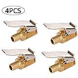 Yizhet 4pz Mandrini Pneumatici per Pneumatici, 8mm Pneumatico per Auto Adattatore Connettore Valvola per Pneumatici Accessori per Pompa da Auto Ugello Filettato a Clip per Testa a Conversione Rapida