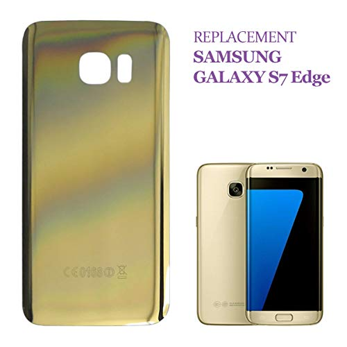 swark Tapa trasera compatible con Samsung Galaxy S7 Edge G935F G935 (dorada)