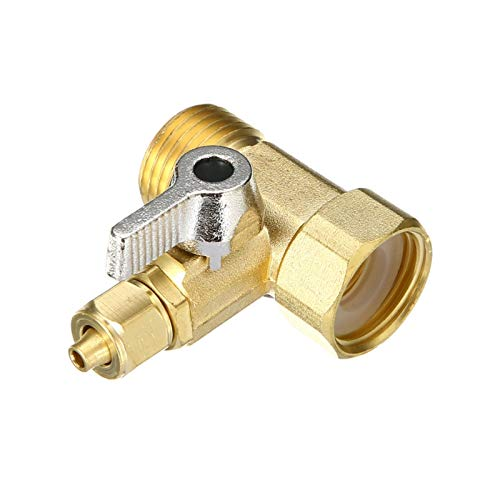 """Das elektromagnetische Ventil Feed Wasseradapter 1/2""""bis 1/4"""" Wasserhahn Wasserfilter Kugelhahn Umkehlung Osmose-Systemventilhahn für Home-Hardware Industriebedarf"""