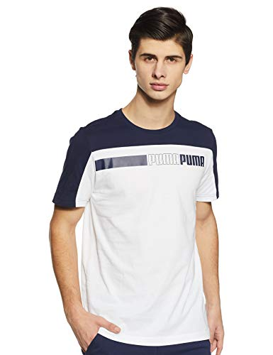 PUMA Modern Sports Advanced Herren T-Shirt Puma White-Peacoat XXL