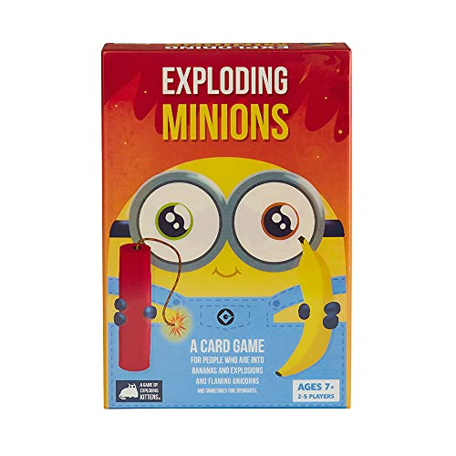 Exploding Minions Card Game - Family-Friendly Party Games - Card Games for Adults, Teens & Kids