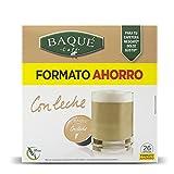 Cafés Baqué - Con Leche Formato Ahorro Cápsulas Compatibles Con Dolce Gusto (pack De 4*26 = 104 Cápsulas)