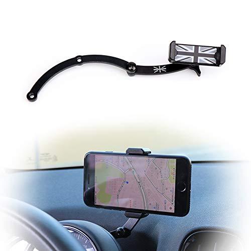 PGONE Behind Tachometer Mount Smart Phone GPS Mounting Design Holder Kit for Mini Cooper R55 R56 R57 R60 R61(2008-2013seris) Union Jack (Black & Grey Union Jack Flag Style)
