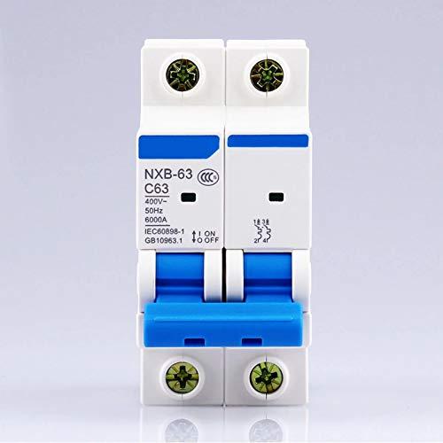 LUOXUEFEI Disyuntor Diferencial Interruptor 2P 1A 2A 3A 6A 10A 16A 20A...