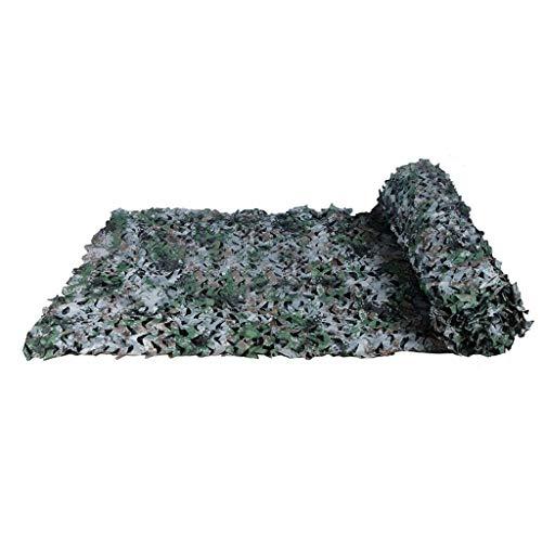 AGWa Voile d'ombrage Woodland Camo Netting camouflage Tarp Mesh Net léger et pliable Bâches couverture Tissu Oxford Tissu militaire pour Camping Chasse Tir militaire,# 3,1,5 x 9M