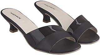 MICHICK Woman Trending Stylish Fancy and Comfort Heel Fashion Sandal