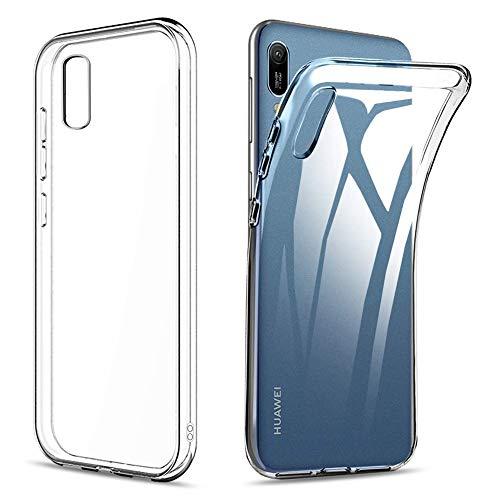 Amonke Funda para Huawei Y6 / Y6s 2019, Silicona Transparente TPU Protectora Carcasa Antigolpes, Anti Caídas Ultrarock Ultrafina Suave Case Cover Compatible con Huawei Y6 / Y6s 2019 6.09'