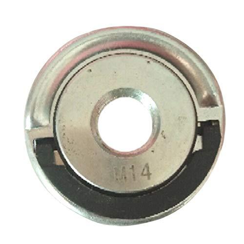 POHOVE Amoladora angular Rueda de corte Amoladora de brida de disco Tuerca de bloqueo de cambio rápido para amoladora angular M 14 Amoladora angular Kit de brida de repuesto