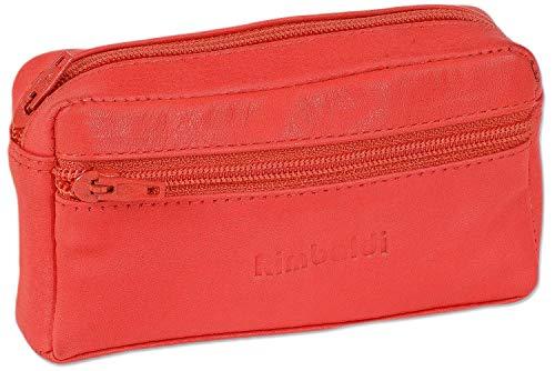 Rimbaldi - Ampia tasca chiave con vano supplementare in morbida pelle di vitello trattata Rosso