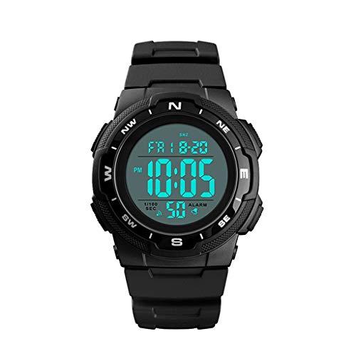 A-ZHP Relojes para Hombres Reloj multifunción con Doble Zona horaria Luminoso Reloj...