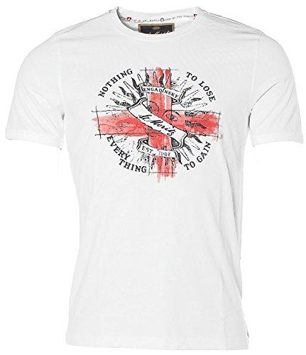 St. Moritz Herren Kurzarm Shirt T-Shirt Rundhals Nothing to Lose Engadinsky White 5XL
