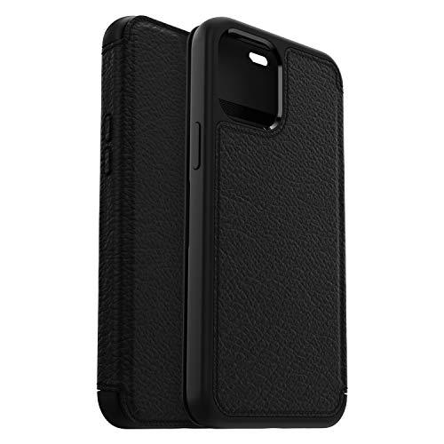 Otterbox Strada - elegante, sturzsichere Folio Schutzhülle aus echtem Leder für Apple iPhone 12 Pro Max, schwarz (ohne Einzelhandelsverpackung)