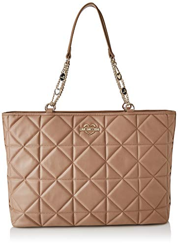 Love Moschino JC4214PP0BKB0209, Sac l'paule Femme, Taupe, Normale