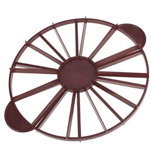 FADACAI - 1 pièce - Séparateur de gâteau - Coupe-gâteau - 10/12 pièces - Rouge foncé - 32,5 x 27 cm