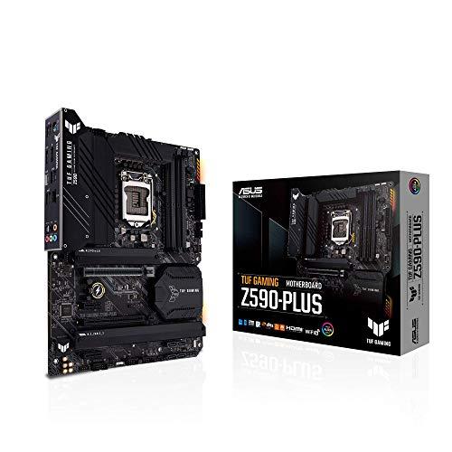 ASUS TUF Gaming Z590-Plus, LGA 1200 (Intel11ª/10ª) ATX Gaming Motherboard (PCIe 4.0, 3xM.2/NVMe SSD, 14+2 etapas de potencia, USB 3.2 panel frontal tipo C, 2.5Gb LAN, Thunderbolt 4, Aura RGB Lighting)