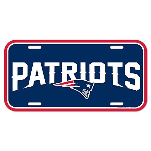 NFL New England Patriots License Plate, Team Color, One Size