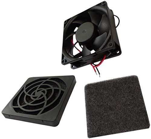 AERZETIX - Ventilador para Caja de Ordenador PC - Rejilla - Filtro - 80x80x25mm - 2600RPM - C14542A