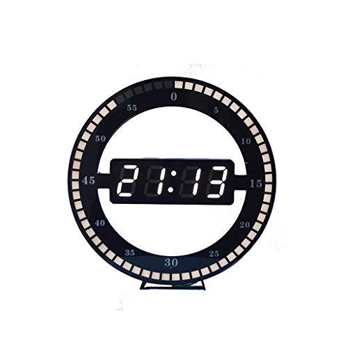AILI Orologio da Parete Silenzioso La Luce Dell'anello Creativa del Salone Dell'orologio Elettronico Moderno Fresco Ha Condotto L'orologio di Parete Digitale Orologio da Parete Decorativo