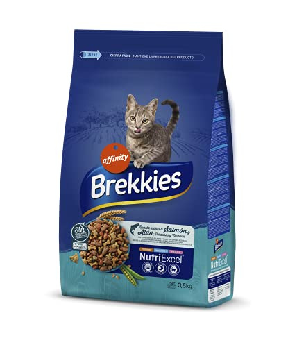 Brekkies Pienso para Gatos con Salmon, Atun y Verduras 3,5kg 3500 g ⭐