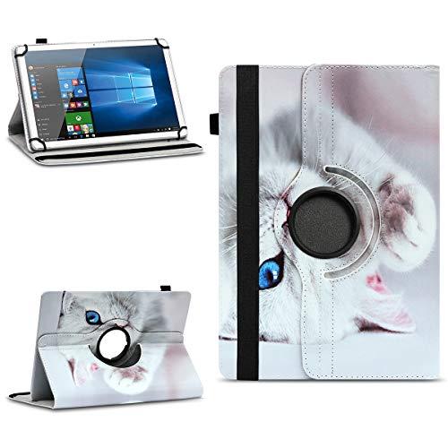 NAmobile Tablet Hülle kompatibel für Odys Space One Tasche Schutzhülle Hülle Universal Cover 360° Drehbar, Farben:Motiv 10
